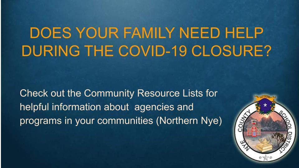 Community Resource List (Northern Nye)