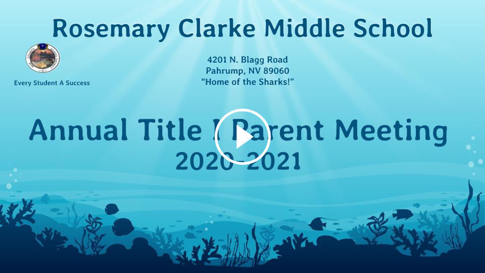 RCMS Title I Parent Meeting