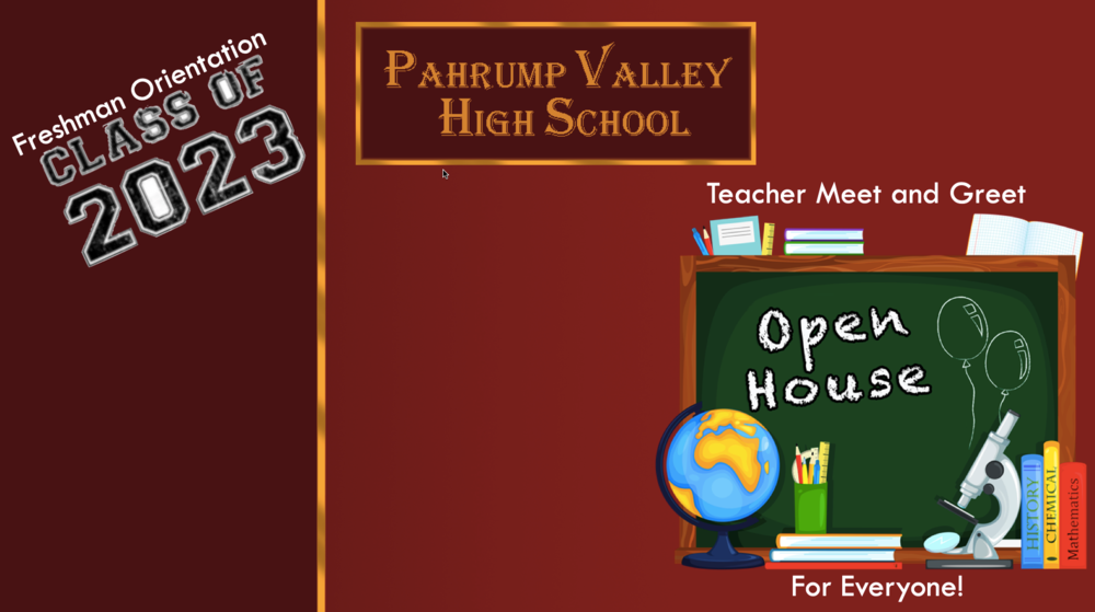 PVHS Freshman Orientation & Open House
