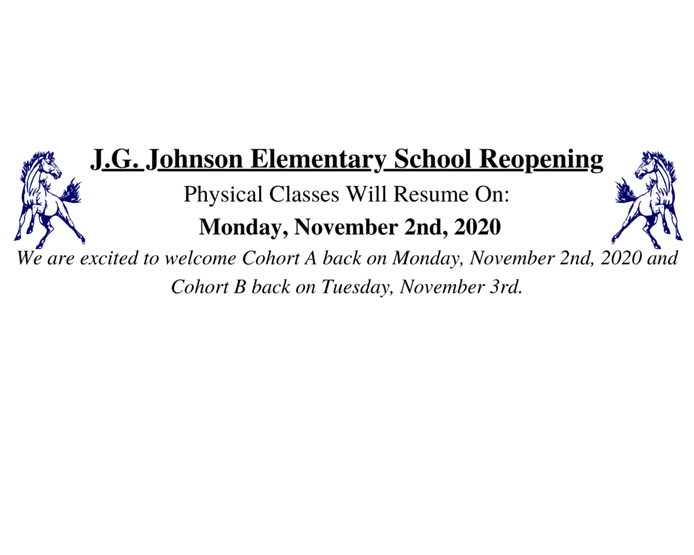 Reopening of Physical School November 2nd
