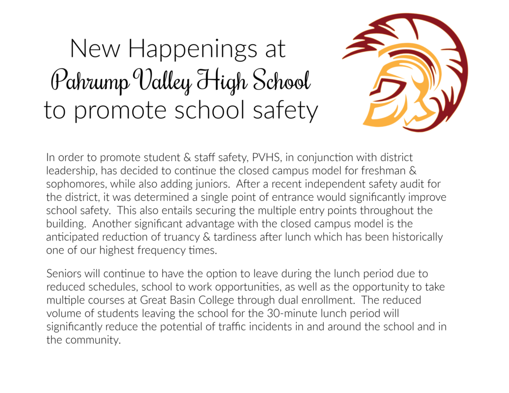 New Happenings at PVHS