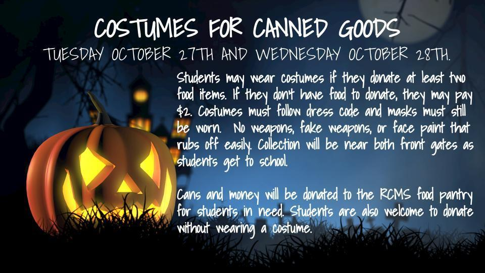 Costumes for canned goods
