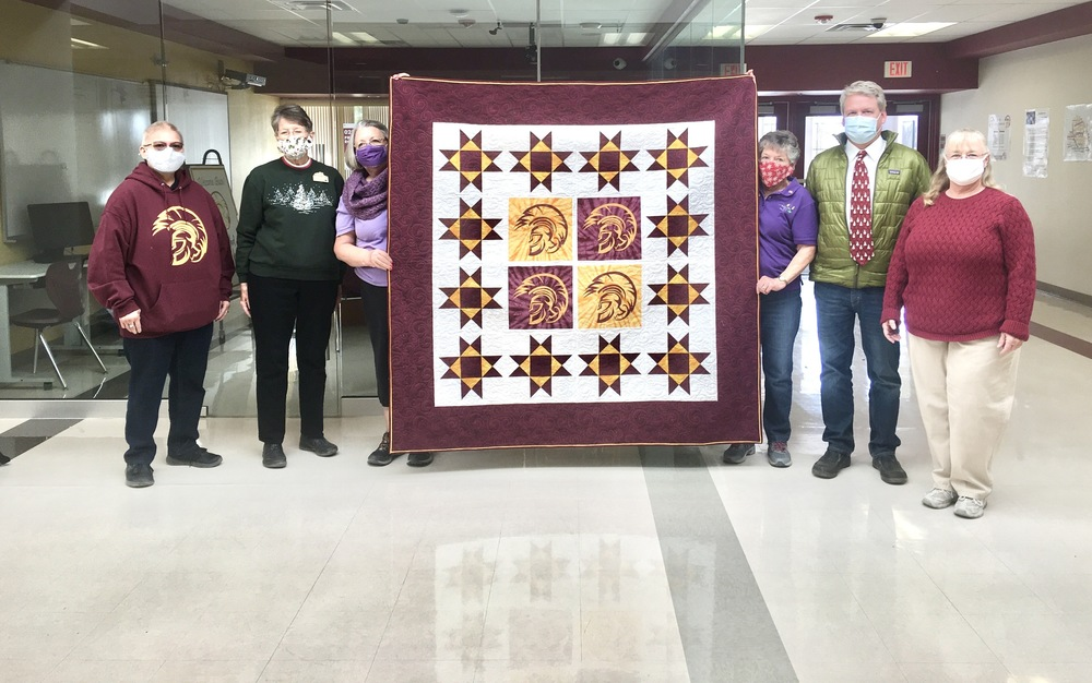 Quilt Donation to PVHS Trojan Trunk
