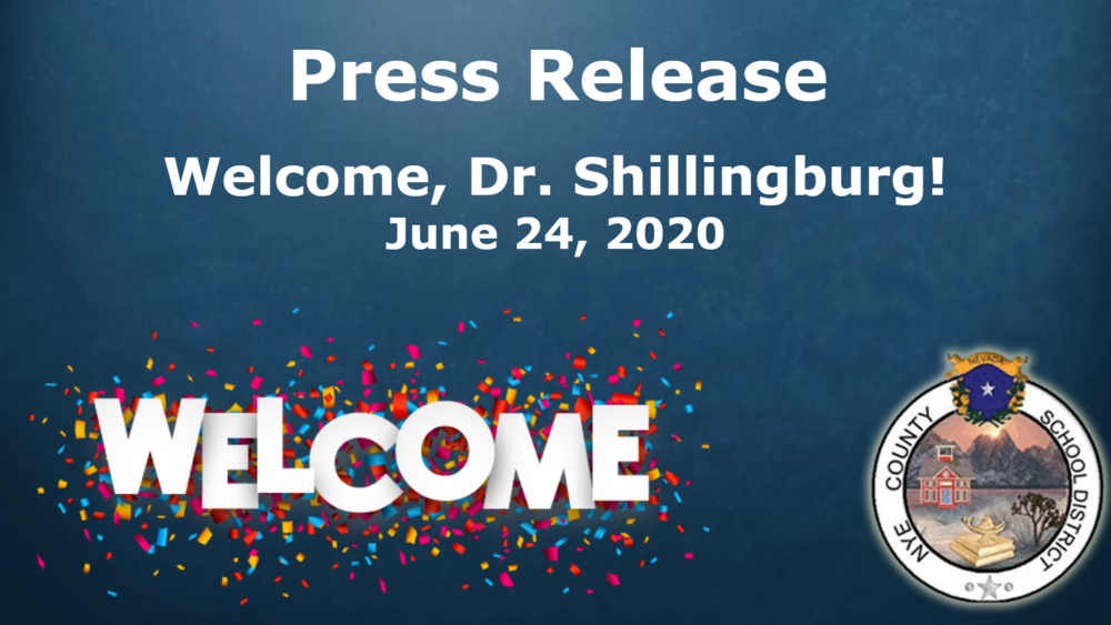 Welcome, Dr. Shillingburg - New Superintendent