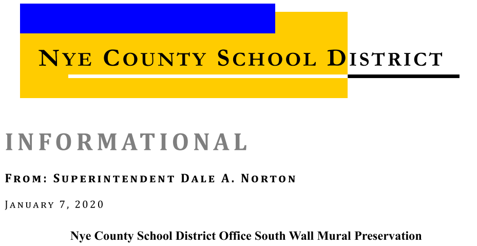 Informational: NCSD Office South Wall Mural Preservation