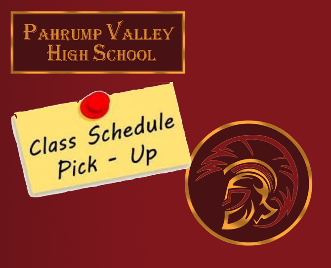 PVHS Class Schedule Pick-Up