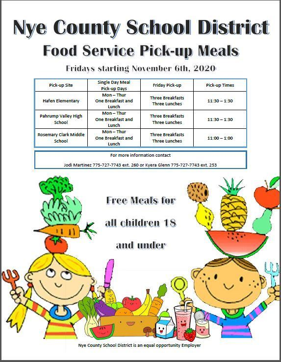 Food Service Pick Up Meals