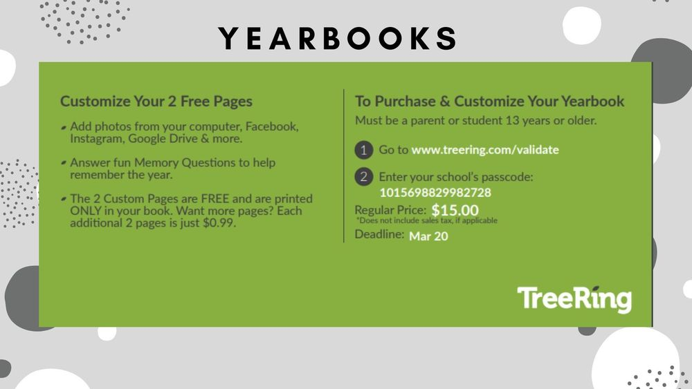 Preorder Your Yearbook Today!
