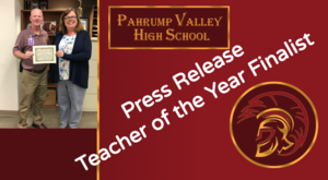 Mrs. Martin - Finalist for 2020 Nevada Teacher of the year