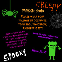 Wear your Halloween Costume!@