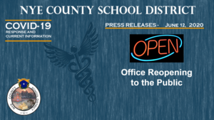 NCSD - 6/12/20 - Office Reopening to the Public