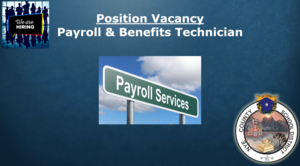 Vacancy: Payroll & Benefits Technician