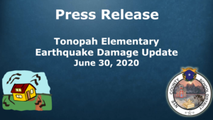 Tonopah Elementary Earthquake Damage Update