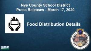 NCSD - 3/17/20 - Food Distribution for the Children of Nye County