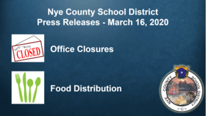 Update - 3/NCSD - COVID-19 16/20 - Office Closures & Food Distribution