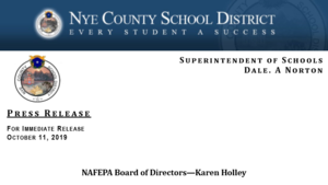Press Release: Karen Holley Named to NAFEPA Board of Directors