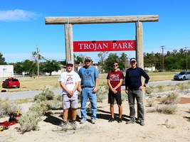 Trojan Park sign goes up