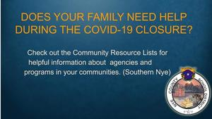 Community Resource List (Southern Nye)