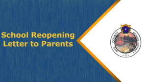 Reopening - Letter to Parents