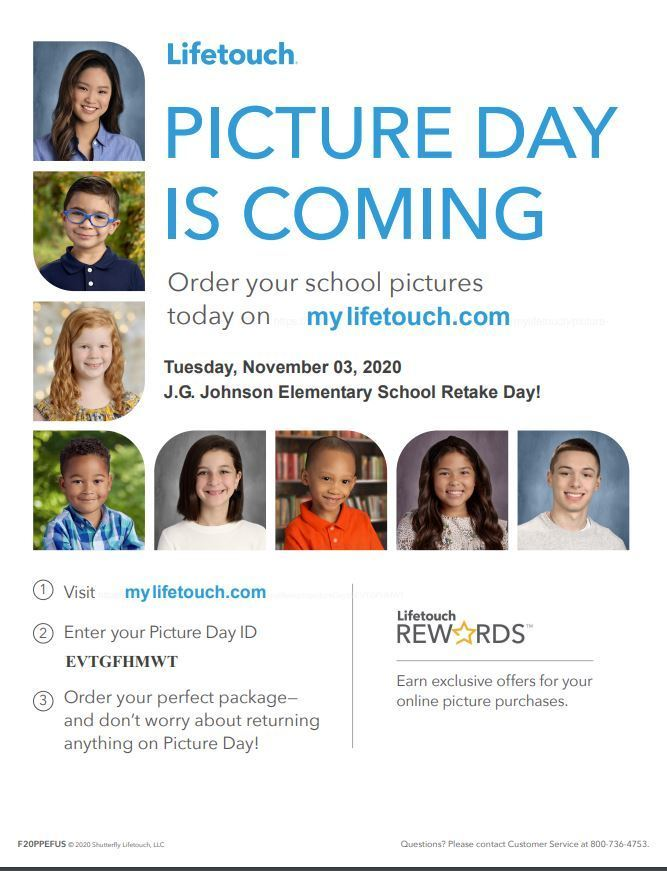 Picture Retake Day is November 3, 2020