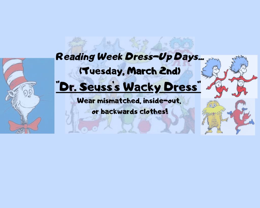 "Tuesday, March 2nd ""Wear mismatched, inside-out, or backwards clothes!"""