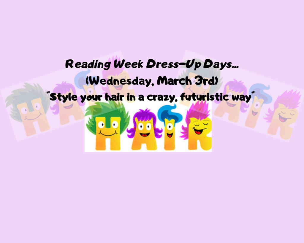 "Wednesday, March 3rd ""Style your hair in a crazy, futuristic way"""