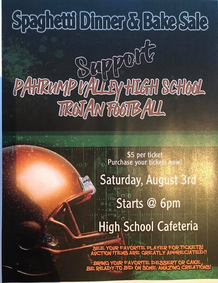 PVHS Football Spaghetti Dinner