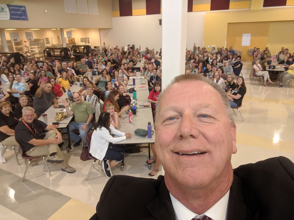 Mr. Norton's first selfie without grand kids.