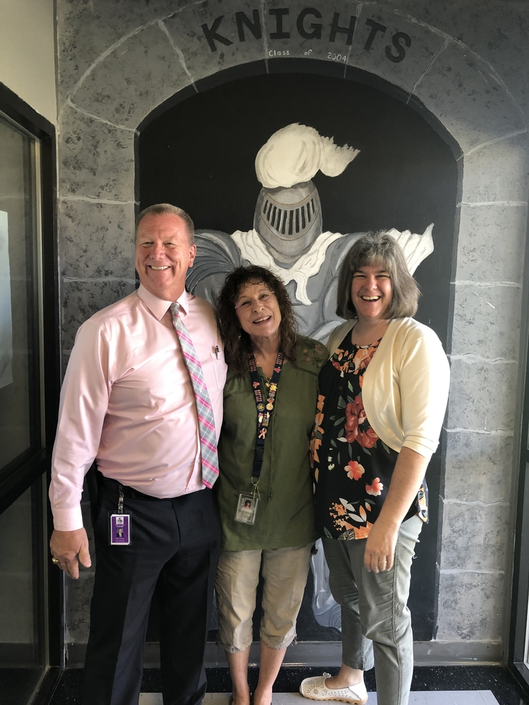Superintendent Norton, Mrs. Browning, and Mrs. Millard starting the school year with a smile