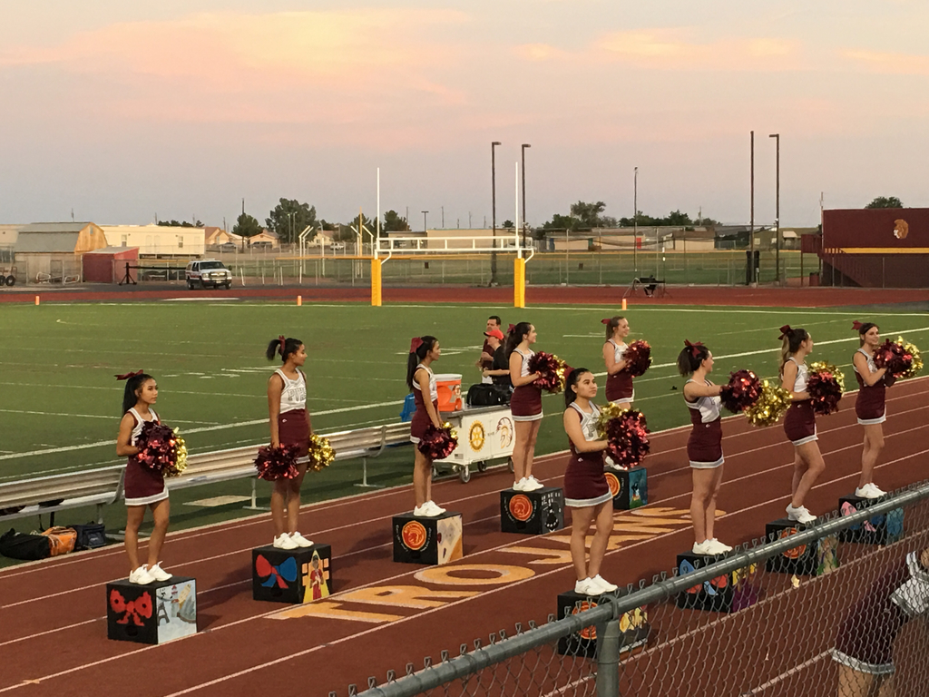 The cheerleaders drive the crowd