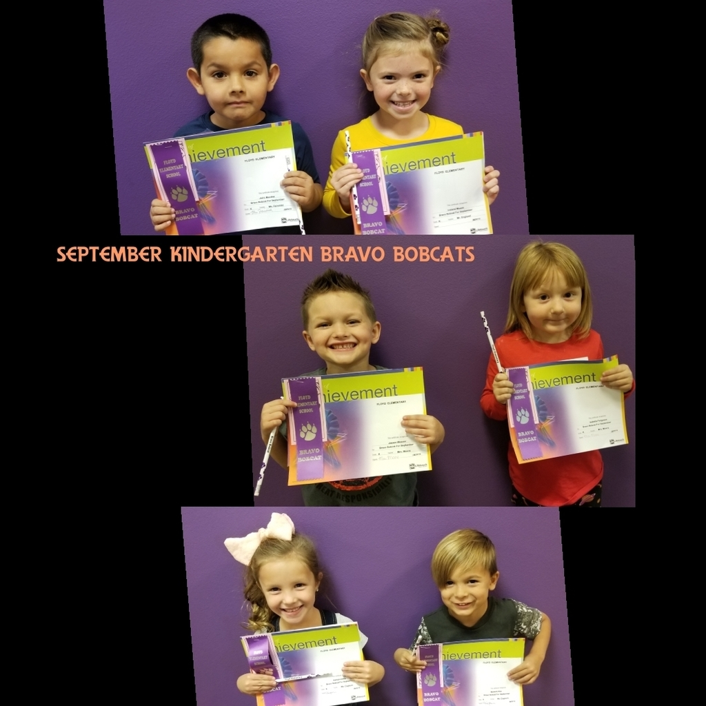 September Kindergarten Bravo Bobcats