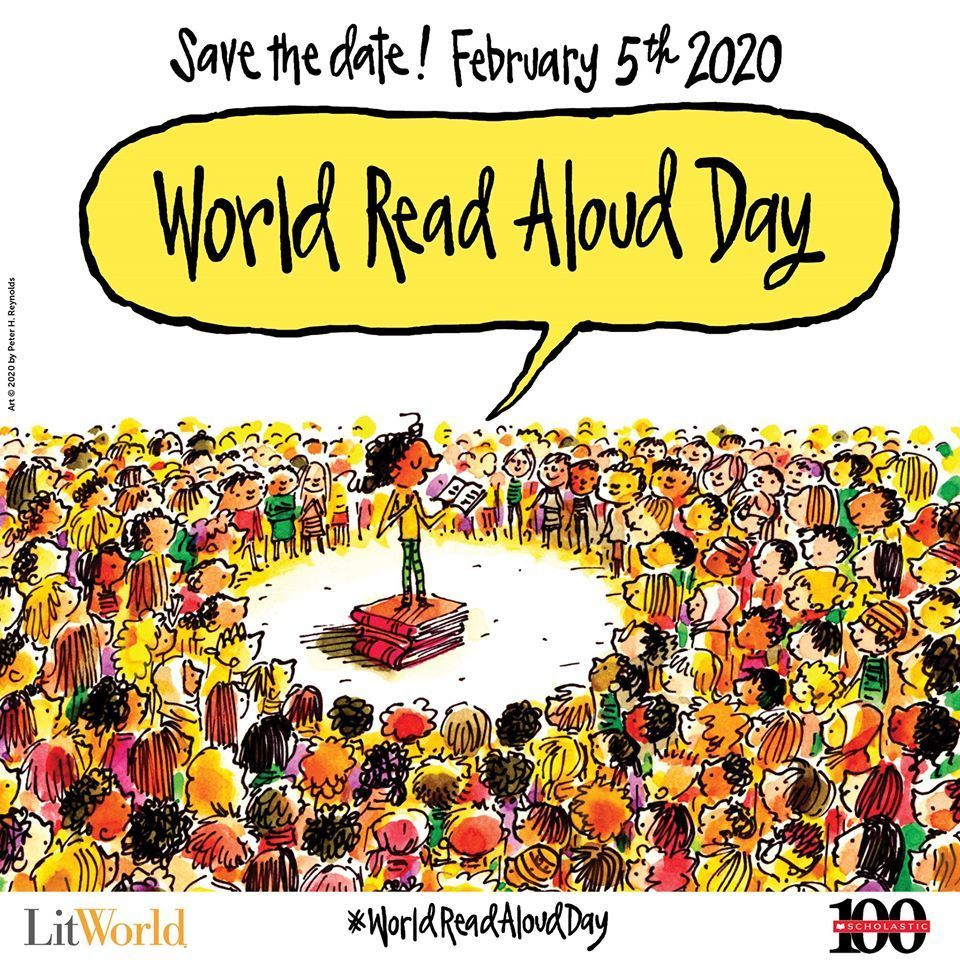 World Read Aloud Day Cartoon