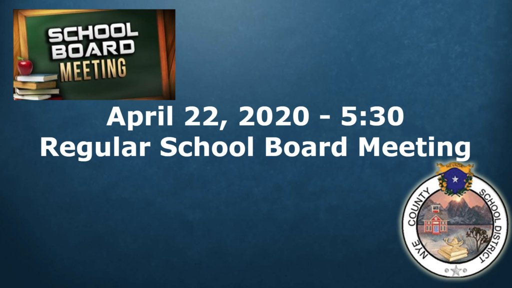 4/22/20 - School Board Meeting